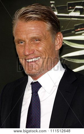Dolph Lundgren at the Los Angeles premiere of 'The Expendables 2' held at the Grauman's Chinese Theatre in Hollywood on August 15, 2012.