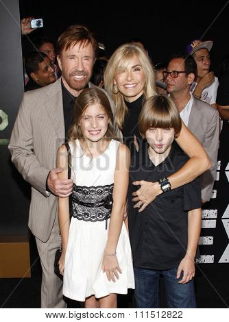 Chuck Norris at the Los Angeles premiere of 'The Expendables 2' held at the Grauman's Chinese Theatre in Hollywood on August 15, 2012.