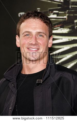 Ryan Lochte at the Los Angeles premiere of 'The Expendables 2' held at the Grauman's Chinese Theatre in Hollywood on August 15, 2012.