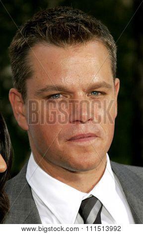 Matt Damon attends the Los Angeles Premiere of
