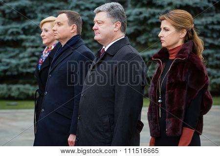 Petro Poroshenko And Andrzej Duda. Meeting In Kiev.