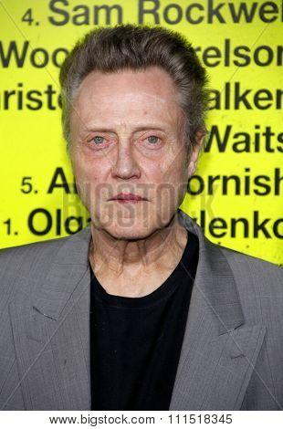 Christopher Walken at the Los Angeles premiere of 'Seven Psychopaths' held at the Mann Bruin Theatre in Westwood on October 1, 2012.
