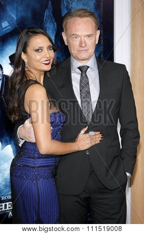 Allegra Riggio and Jared Harris at the Los Angeles premiere of 'Sherlock Holmes: A Game Of Shadows' held at the Regency Village Theatre in Westwood on November 6, 2011.