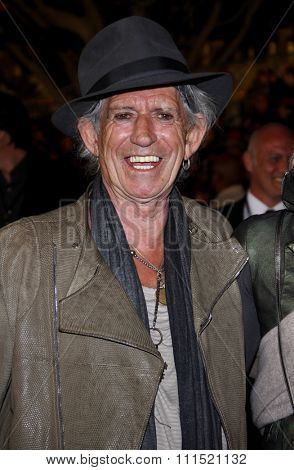 Keith Richards at the Los Angeles premiere of 'Pirates Of The Caribbean: On Stranger Tides' held at the Disneyland in Anaheim on May 7, 2011.