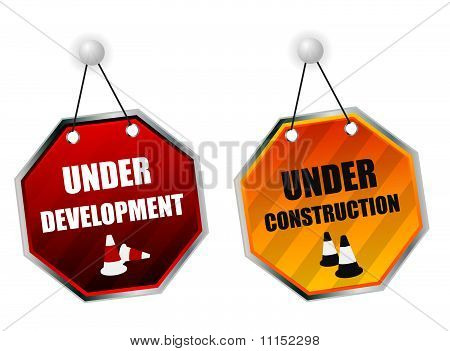 Under construction boards
