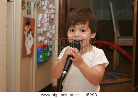 Young Boy Singing