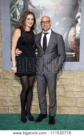 Stanley Tucci and Felicity Blunt at the Los Angeles premiere of