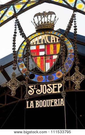 Sign at La Boqueria market