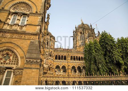 Chhatrapati Shivaji Terminus At Mumbai, India.