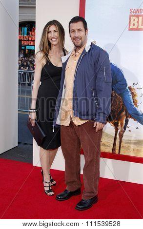 Adam Sandler and Jackie Sandler at the Los Angeles premiere of