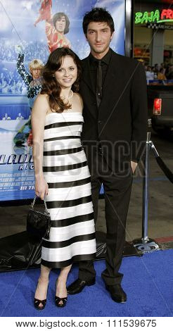 Sasha Cohen and Evan Lysacek attend the Los Angeles Premiere of