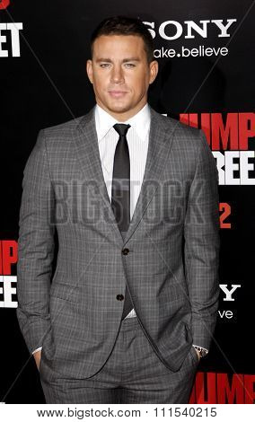 Channing Tatum at the Los Angeles premiere of '21 Jump Street' held at the Grauman's Chinese Theater in Hollywood on March 13, 2012.