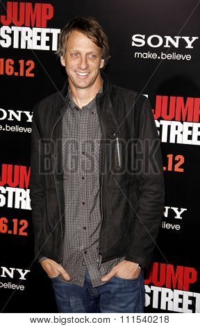 Tony Hawk at the Los Angeles premiere of '21 Jump Street' held at the Grauman's Chinese Theater in Hollywood on March 13, 2012.