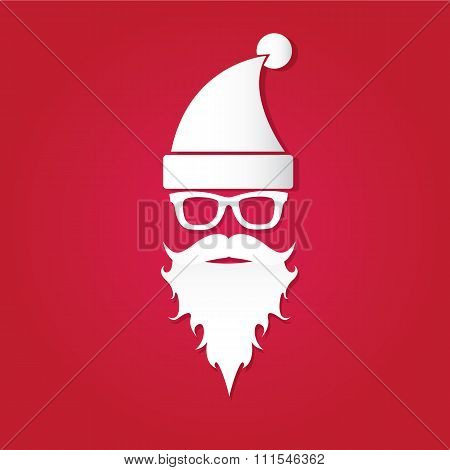 Christmas hipster greeting card