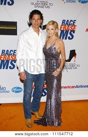 Camille Grammer and Dimitri Charalambopoulos at the 19th Annual Race To Erase MS held at the Hyatt Regency Century Plaza in Century City, USA on May 18, 2012.