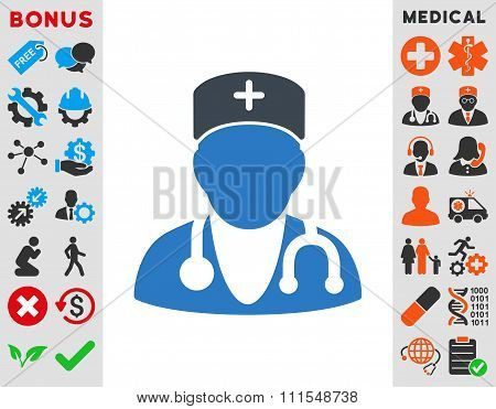 Physician Flat Icon