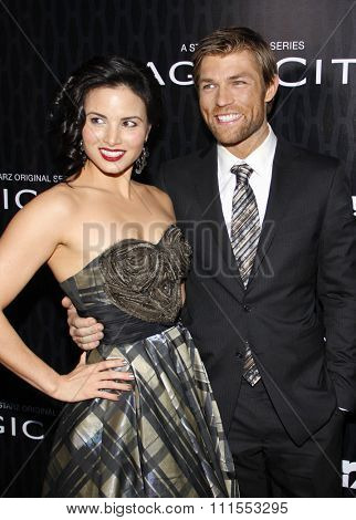 Liam McIntyre and Katrina Law at the Los Angeles premiere of Starz Series 'Magic City' held at the DGA Theater in Hollywood, USA on March 20, 2012.