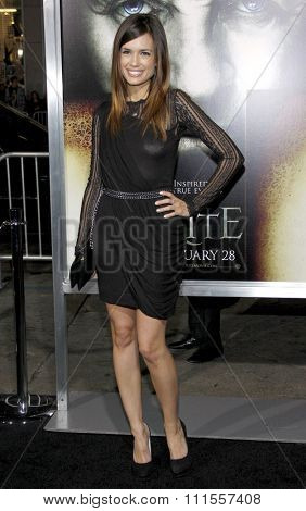 Torrey DeVitto at the Los Angeles premiere of 'The Rite' held at the El Capitan Theater in Hollywood, USA on January 26, 2010.