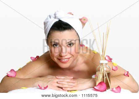 Lächelnde Frau Day-Spa