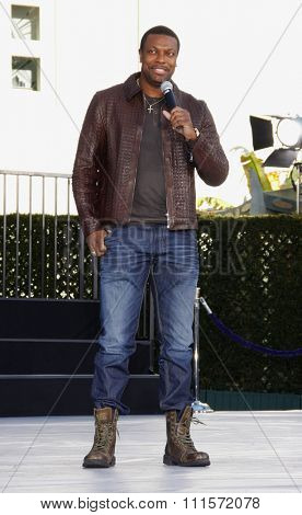 Los Angeles- January 26, 2012. Chris Tucker at the Michael Jackson Hand And Footprint Ceremony held at the Grauman's Chinese Theatre, Los Angeles.