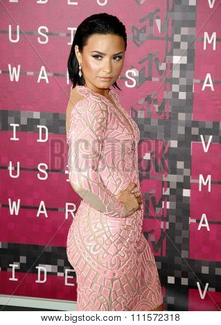 LOS ANGELES, CA - AUGUST 30, 2015: Demi Lovato at the 2015 MTV Video Music Awards held at the Microsoft Theater in Los Angeles, USA on August 30, 2015.