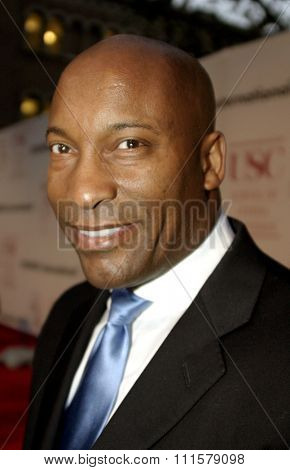 John Singleton at the 75th Diamond Jubilee Celebration for the USC School of Cinema-Television held at the USC's Bovard Auditorium in Los Angeles, USA on September 26, 2004.