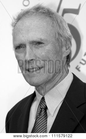 Clint Eastwood at the 75th Diamond Jubilee Celebration for the USC School of Cinema-Television held at the USC's Bovard Auditorium in Los Angeles, USA on September 26, 2004.