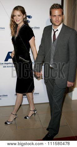 BEVERLY HILLS, CA - NOVEMBER 20, 2006: Jacinda Barrett and Gabriel Macht at the 2006 Los Angeles Free Clinic Annual Gala held at the Beverly Hilton Hotel in Beverly Hills, USA on November 20, 2006.