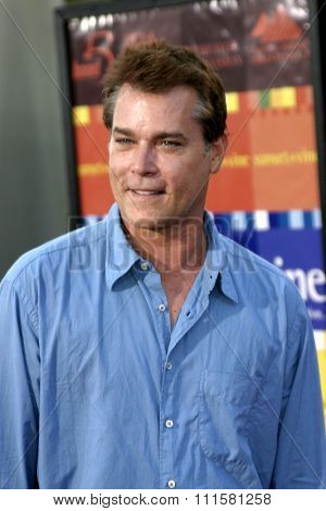 HOLLYWOOD, CA - JULY 15, 2004: Ray Liotta at the World premiere of 'The Bourne Supremacy' held at the ArcLight Cinema in Hollywood, USA on July 15, 2004.