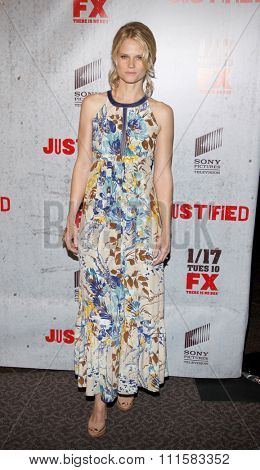 HOLLYWOOD, CA - JANUARY 10, 2012: Joelle Carter at the Season 3 premiere screening of 'Justified' held at the DGA Theater in Los Angeles, USA on January 10, 2012.