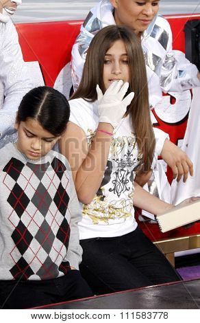 Blanket and Paris Jackson at the Michael Jackson Hand And Footprint Ceremony held at the Grauman's Chinese Theater in Hollywood, USA on January 26, 2012.