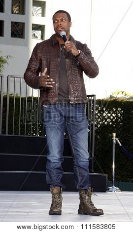 Chris Tucker at the Michael Jackson Hand And Footprint Ceremony held at the Grauman's Chinese Theater, California, United States on January 26, 2012.