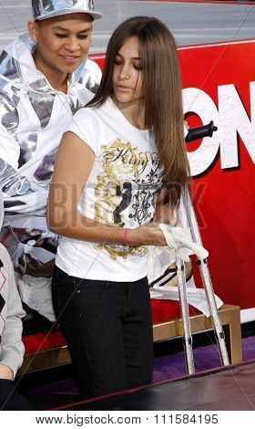 HOLLYWOOD, CA - JANUARY 26, 2012: Paris Jackson at the Michael Jackson Immortalized held at the Grauman's Chinese Theatre in Los Angeles.