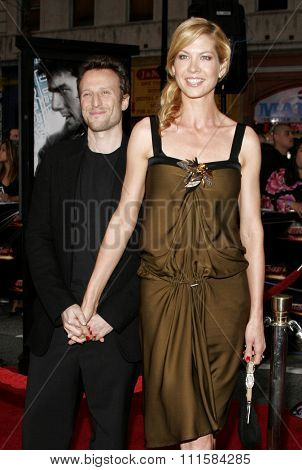 HOLLYWOOD, CA - MAY 04, 2006: Jenna Elfman and Bodhi Elfman at the Los Angeles premiere of 'Mission: Impossible 3' held at the Grauman's Chinese Theatre in Hollywood, USA on May 4, 2006.