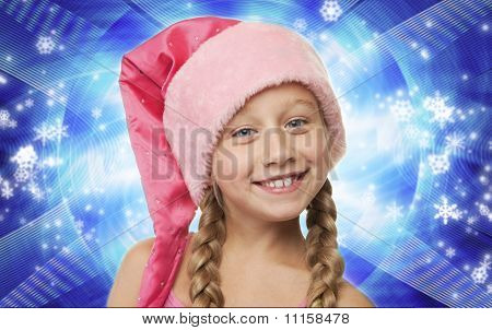 Portrait Of A Little Christmas Girl ....