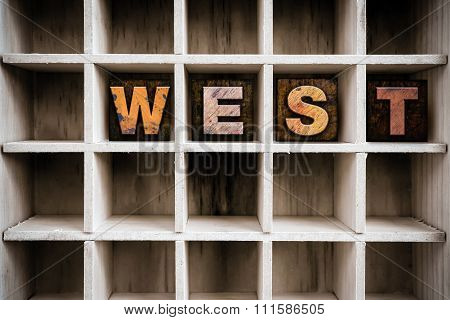 West Concept Wooden Letterpress Type In Drawer