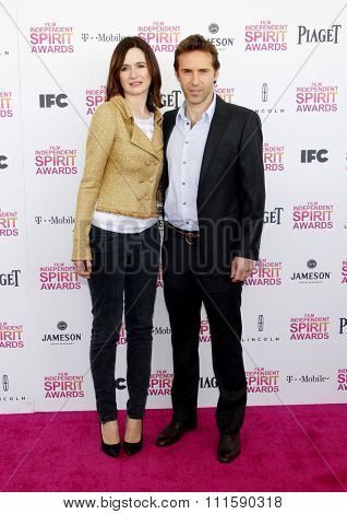 Alessandro Nivola and Emily Mortimer at the 2013 Film Independent Spirit Awards held at the Santa Monica Beach in Los Angeles, United States on February 23, 2013.