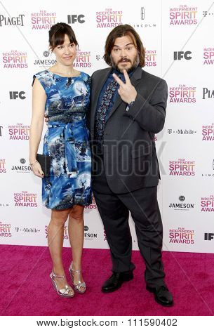 Jack Black at the 2013 Film Independent Spirit Awards held at the Santa Monica Beach in Los Angeles, United States on February 23, 2013.