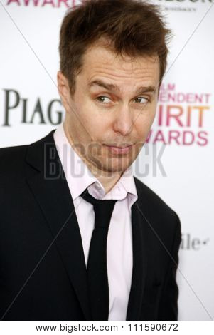 Sam Rockwell at the 2013 Film Independent Spirit Awards held at the Santa Monica Beach in Los Angeles, United States on February 23, 2013.
