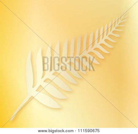 Silver Fern Of New Zealand Background