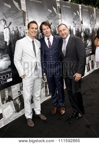 Thomas Sadoski, John Gallagher Jr. and Alan Poul at the HBO's Season 2 Premiere Of