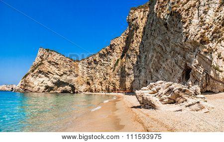 Paradise Beach, Corfu Island, Greece.