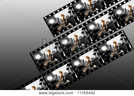 Filmstrip collage