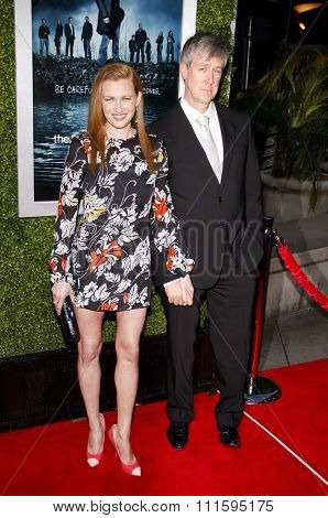 HOLLYWOOD, CALIFORNIA - March 26, 2012. Mireille Enos and Alan Ruck at the Los Angeles Season 2 premiere of AMC's 'The Killing' held at the ArcLight Cinemas in Hollywood.