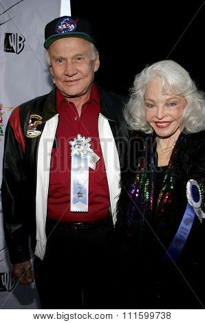 11/27/2005 - Hollywood - Buzz Aldrin and wife Lois attend the 2005 Hollywood Christmas Parade at the Hollywood Roosevelt Hotel in Hollywood, California, United States.