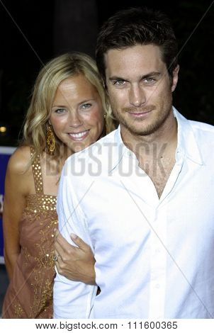 UNIVERSAL CITY, CALIFORNIA. August 2, 2005. Erin Bartlett and Oliver Hudson attend the