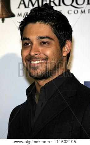 HOLLYWOOD, CALIFORNIA - June 11, 2005.Wilmer Valderrama attends at the 19th Annual Fulfillment Fund