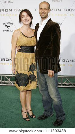 HOLLYWOOD, CALIFORNIA. September 5, 2006. Sasha Alexander and Edoardo Ponti attend the Los Angeles Premiere of