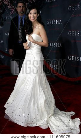 HOLLYWOOD, CALIFORNIA. December 4, 2005. Ziyi Zhang attends the Premiere of Memoirs of a Geisha at the Kodak Theater in Hollywood, California United States.