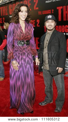 BUENA PARK, CALIFORNIA. October 8, 2006. Jennifer Beals and Takashi Shimizu attend the World Premiere of